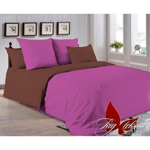 Поплиновое постельное белье полуторное TAG P-3025(1235)