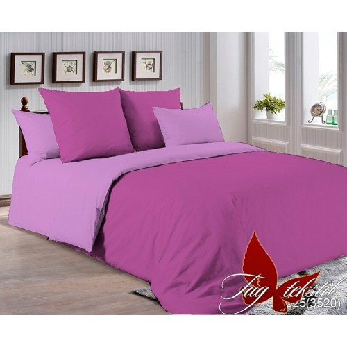 Поплиновое постельное белье полуторное TAG P-3025(3520)