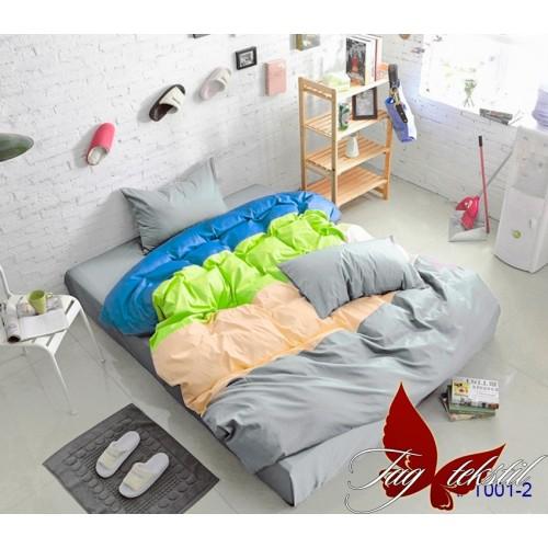 Поплиновое постельное белье полуторное TAG Colormix APT-001-2