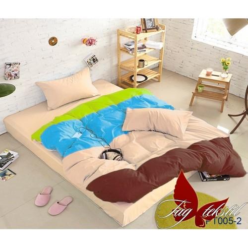 Поплиновое постельное белье полуторное TAG Colormix APT-005-2