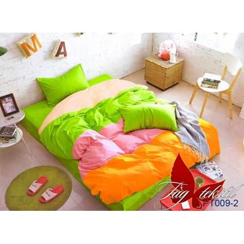 Поплиновое постельное белье полуторное TAG Colormix APT-009-2