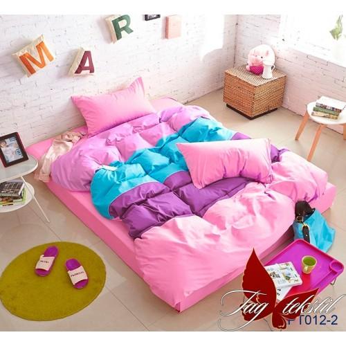 Поплиновое постельное белье полуторное TAG Colormix APT-012-2
