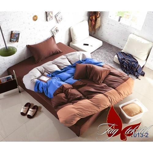 Поплиновое постельное белье полуторное TAG Colormix APT-013-2