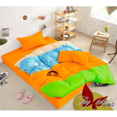 Поплиновое постельное белье полуторное TAG Colormix APT-016-2