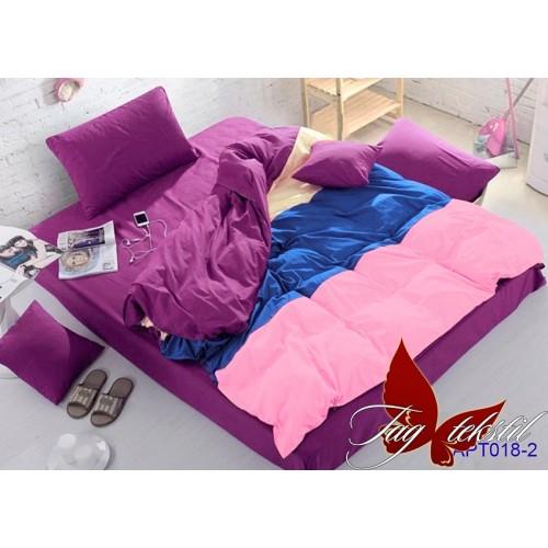 Поплиновое постельное белье полуторное TAG Colormix APT-18-2