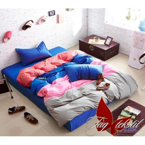 Поплиновое постельное белье полуторное TAG Colormix APT-034