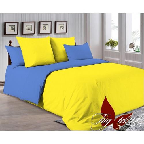 Поплиновое постельное белье полуторное TAG P-0643(4037)