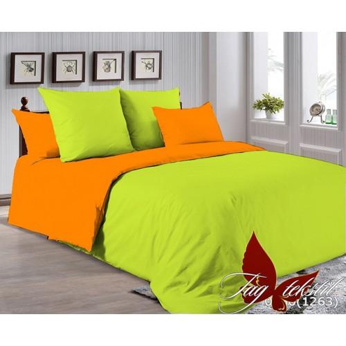 Поплиновое постельное белье полуторное TAG P-0550(1263)