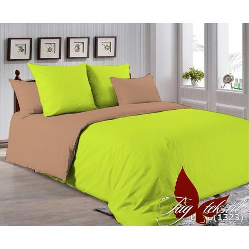 Поплиновое постельное белье полуторное TAG P-0550(1323)