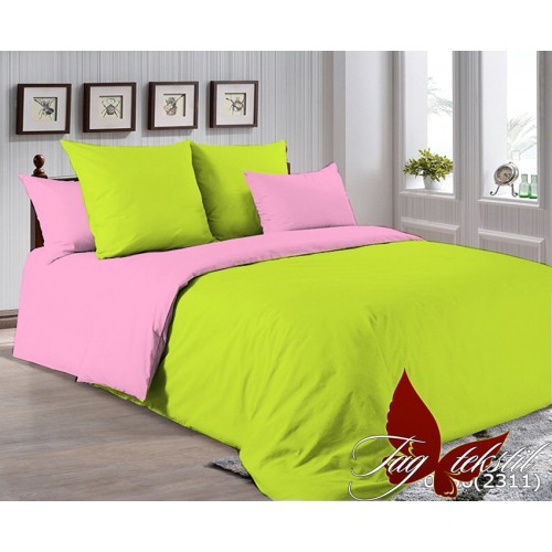 Поплиновое постельное белье полуторное TAG P-0550(2311)