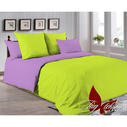 Поплиновое постельное белье полуторное TAG P-0550(3520)