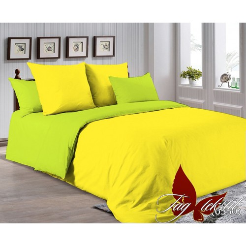 Поплиновое постельное белье полуторное TAG P-0643(0550)
