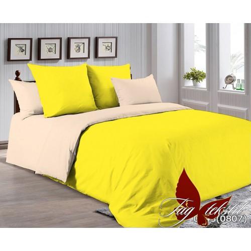 Поплиновое постельное белье полуторное TAG P-0643(0807)