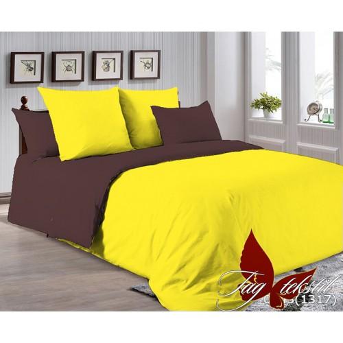 Поплиновое постельное белье полуторное TAG P-0643(1317)