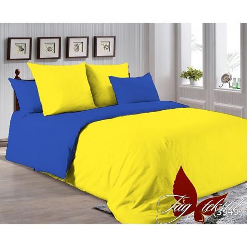 Поплиновое постельное белье полуторное TAG P-0643(3949)