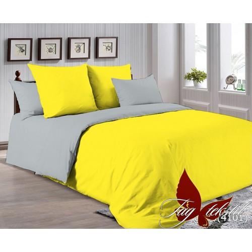 Поплиновое постельное белье полуторное TAG P-0643(4101)