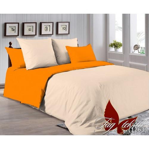 Поплиновое постельное белье полуторное TAG P-0807(1263)