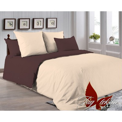Поплиновое постельное белье двухспальное TAG P-0807(1317)