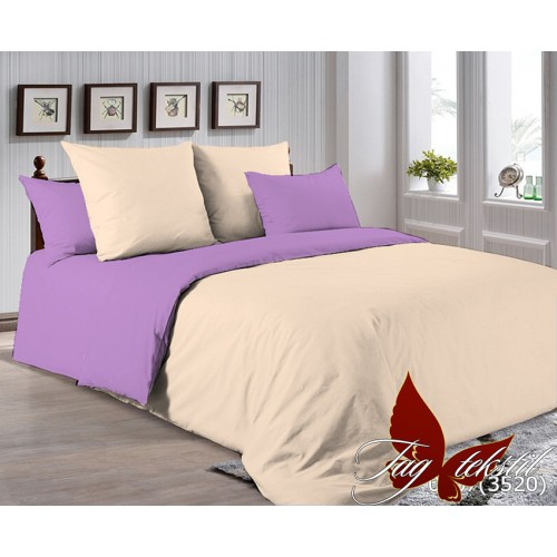 Поплиновое постельное белье полуторное TAG P-0807(3520)