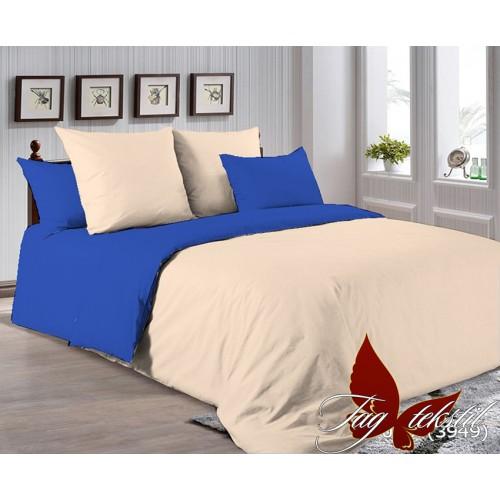Поплиновое постельное белье полуторное TAG P-0807(3949)