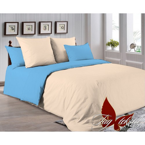 Поплиновое постельное белье полуторное TAG P-0807(4225)