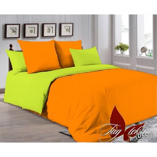 Поплиновое постельное белье полуторное TAG P-1263(0550)