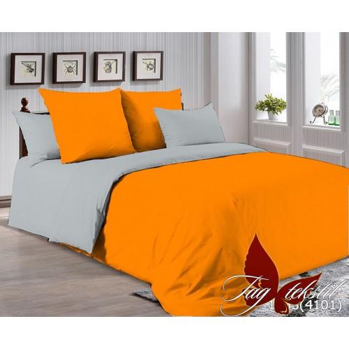Поплиновое постельное белье полуторное TAG P-1263(4101)