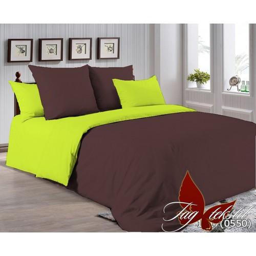 Поплиновое постельное белье полуторное TAG P-1317(0550)