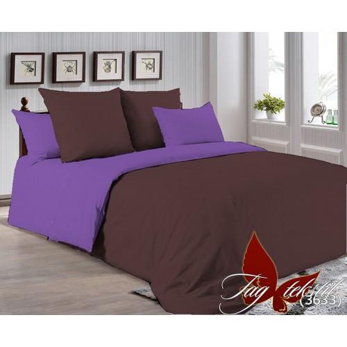 Поплиновое постельное белье полуторное TAG P-1317(3633)