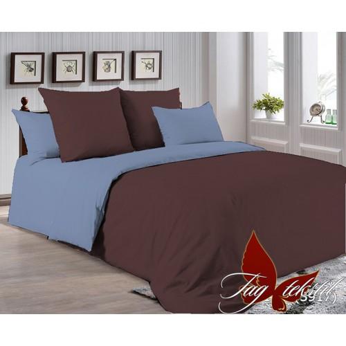 Поплиновое постельное белье полуторное TAG P-1317(3917)