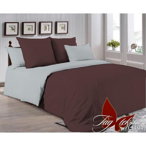 Поплиновое постельное белье полуторное TAG P-1317(4101)