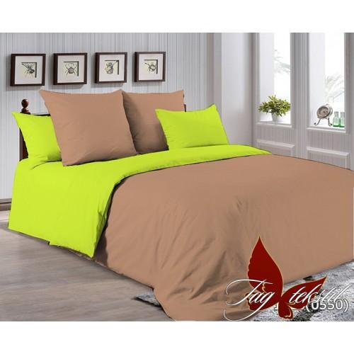 Поплиновое постельное белье полуторное TAG P-1323(0550)