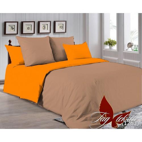 Поплиновое постельное белье полуторное TAG P-1323(1263)