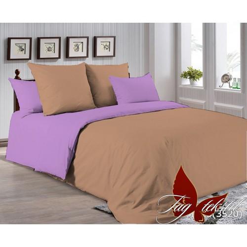 Поплиновое постельное белье полуторное TAG P-1323(3520)