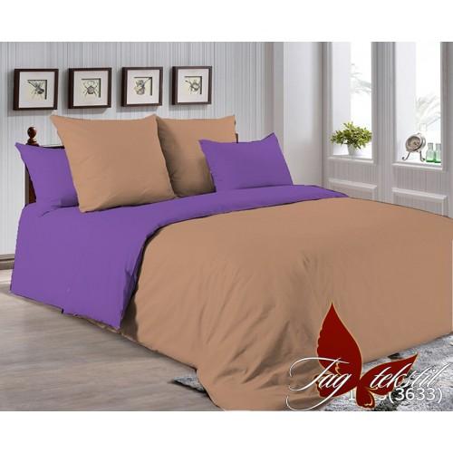 Поплиновое постельное белье полуторное TAG P-1323(3633)