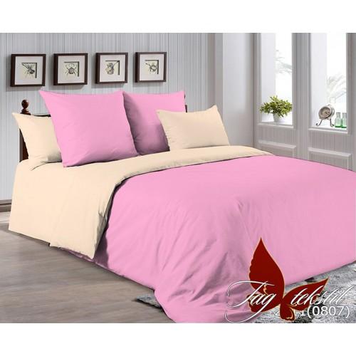 Поплиновое постельное белье полуторное TAG P-2311(0807)