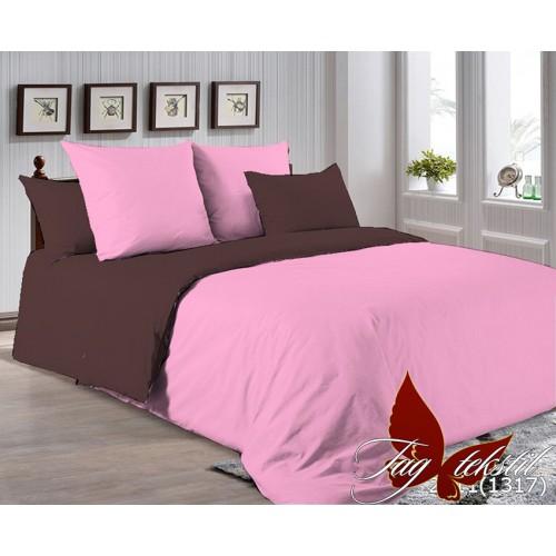 Поплиновое постельное белье полуторное TAG P-2311(1317)