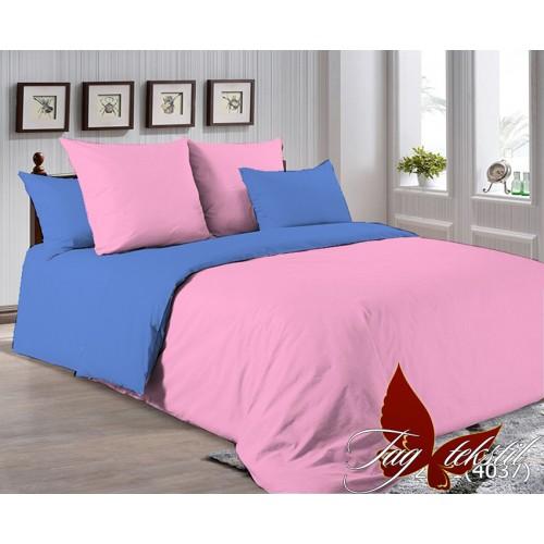 Поплиновое постельное белье полуторное TAG P-2311(4037)