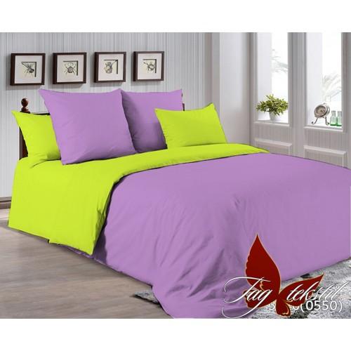 Поплиновое постельное белье полуторное TAG P-3520(0550)