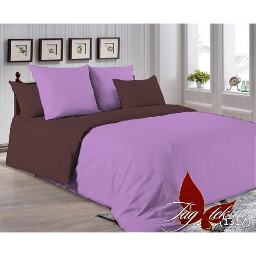Поплиновое постельное белье полуторное TAG P-3520(1317)