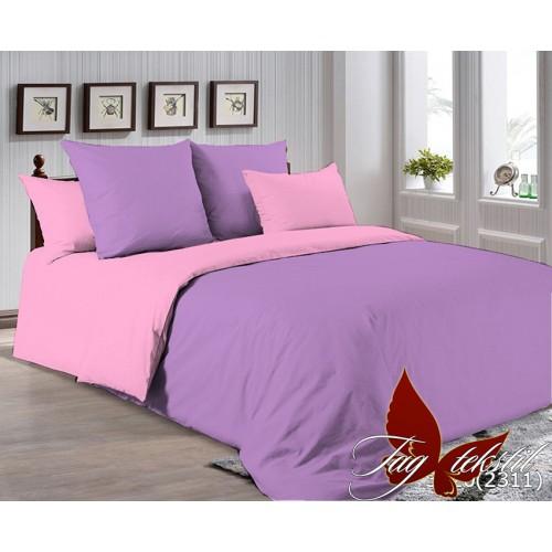 Поплиновое постельное белье полуторное TAG P-3520(2311)