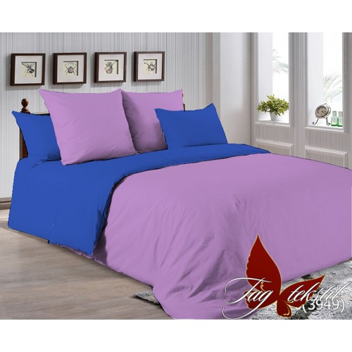 Поплиновое постельное белье полуторное TAG P-3520(3949)
