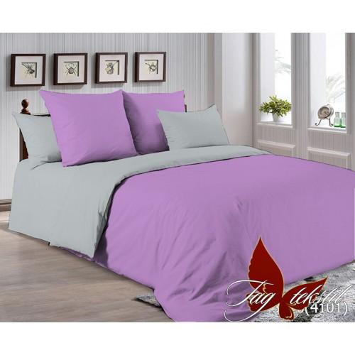 Поплиновое постельное белье полуторное TAG P-3520(4101)
