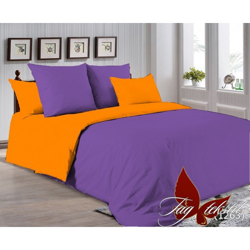 Поплиновое постельное белье полуторное TAG P-3633(1263)