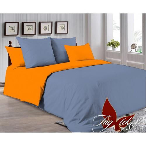 Поплиновое постельное белье полуторное TAG P-3917(1263)