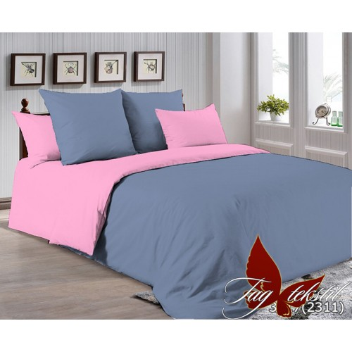 Поплиновое постельное белье полуторное TAG P-3917(2311)