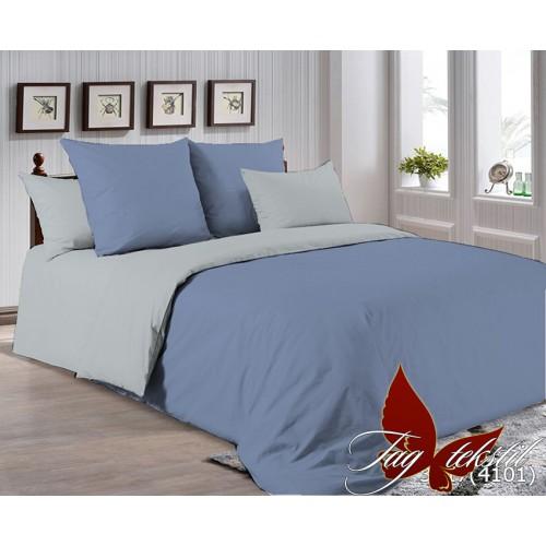 Поплиновое постельное белье полуторное TAG P-3917(4101)