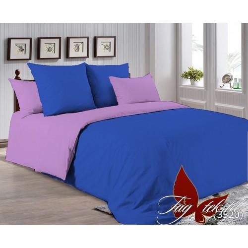 Поплиновое постельное белье полуторное TAG P-3949(3520)