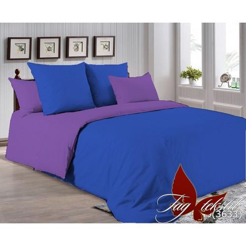 Поплиновое постельное белье полуторное TAG P-3949(3633)