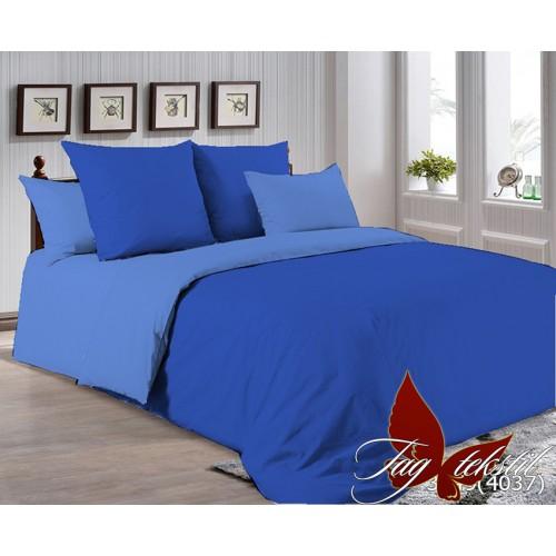 Поплиновое постельное белье полуторное TAG P-3949(4037)